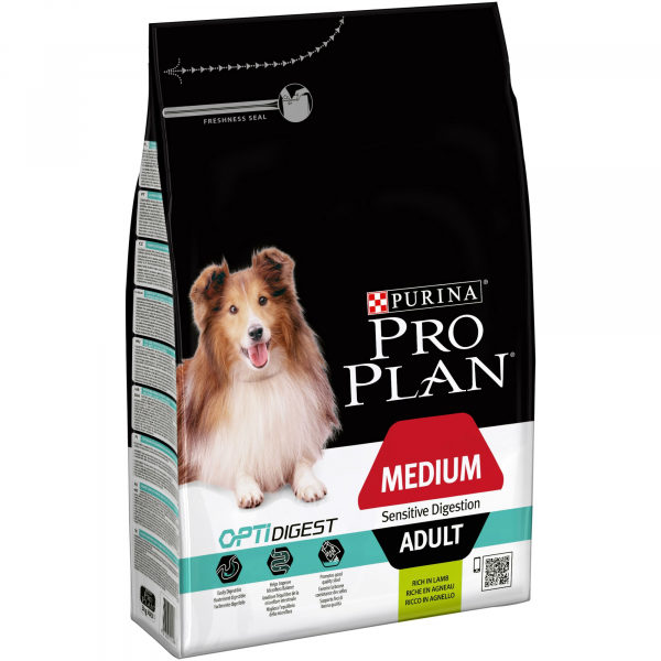 Pro Plan Dog Medium Adult Sensitive Digestion Lamb