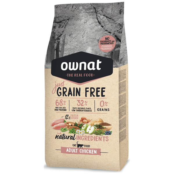 Ownat Just Grain Free Gato adulto Frango