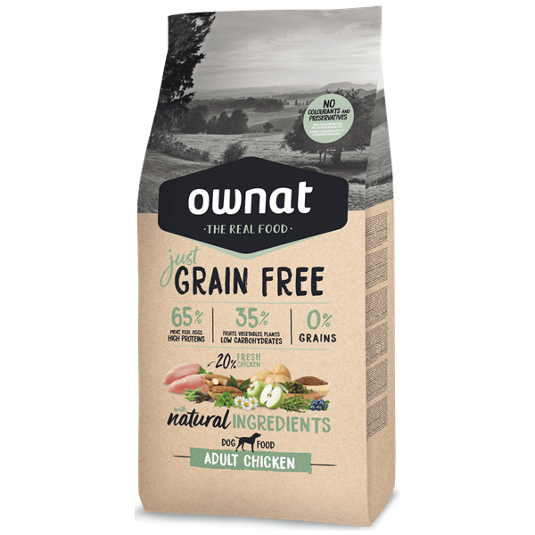 Ownat Just Grain Free Cão Adulto Frango