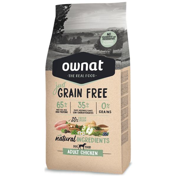 Ownat Just Grain Free Cão Adulto Frango
