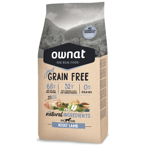 Ownat Just Grain Free Cão Adulto Borrego