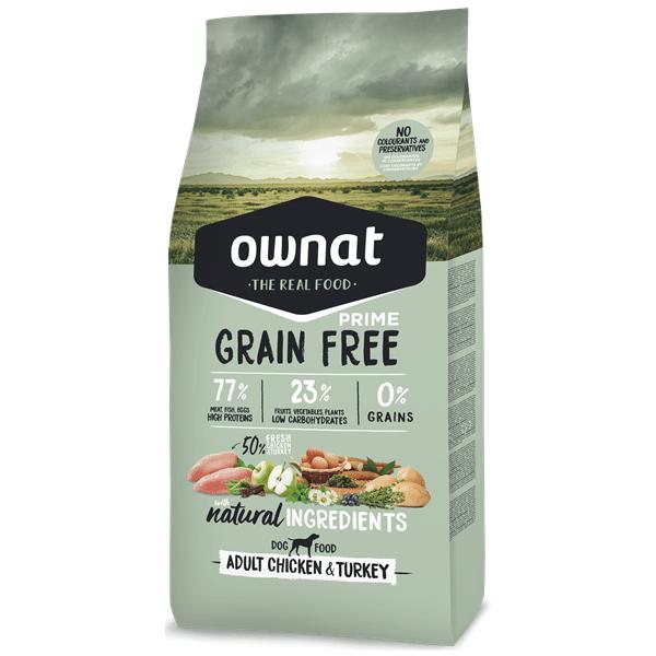 Ownat Grain Free Prime Cão Adulto Frango Perú