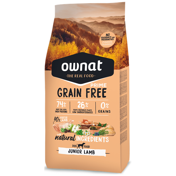 Ownat Grain Free Prime Cão Júnior Cordeiro