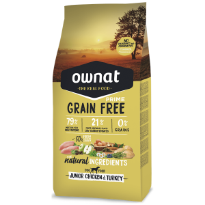 Ownat Grain Free Prime Cão Júnior Frango & Perú