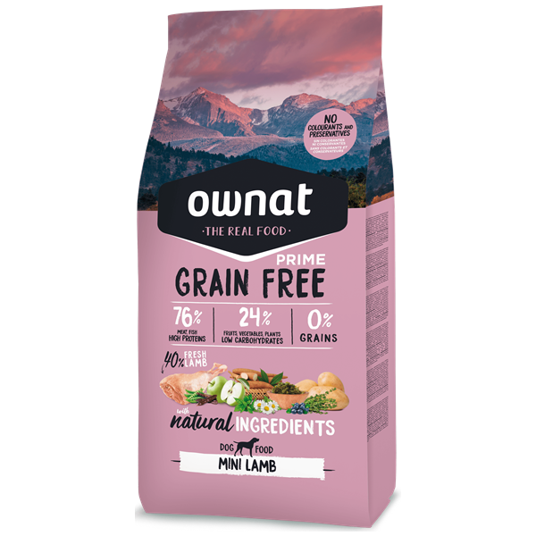 Ownat Grain Free Prime Cão Mini Adulto Borrego