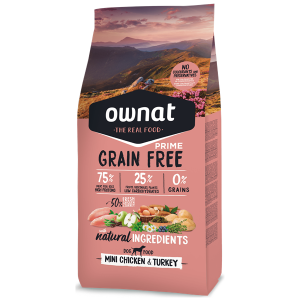 Ownat Grain Free Prime Cão Mini Adulto Frango