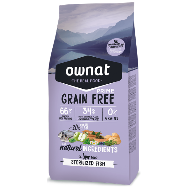 Ownat Grain Free Prime Gato Esterilizado Frango