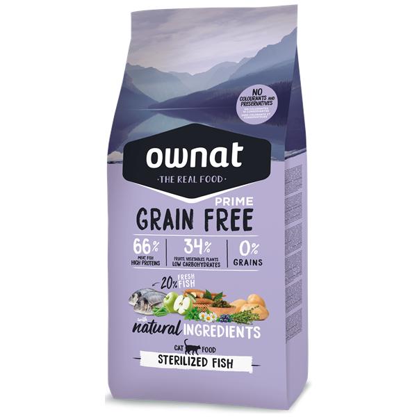 Ownat Grain Free Prime Gato Esterilizado Peixe