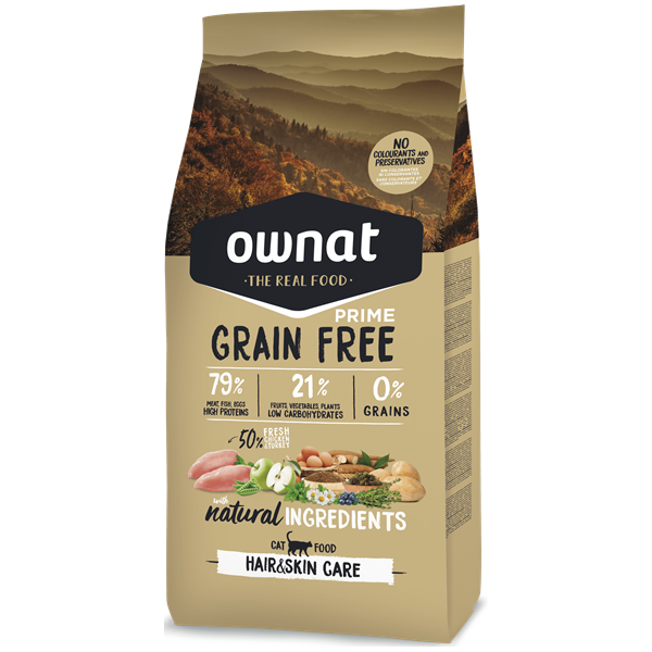 Ownat Grain Free Prime Gato Hair & Skin