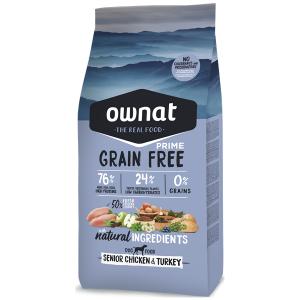 Ownat Grain Free prime Cão sénior Frango