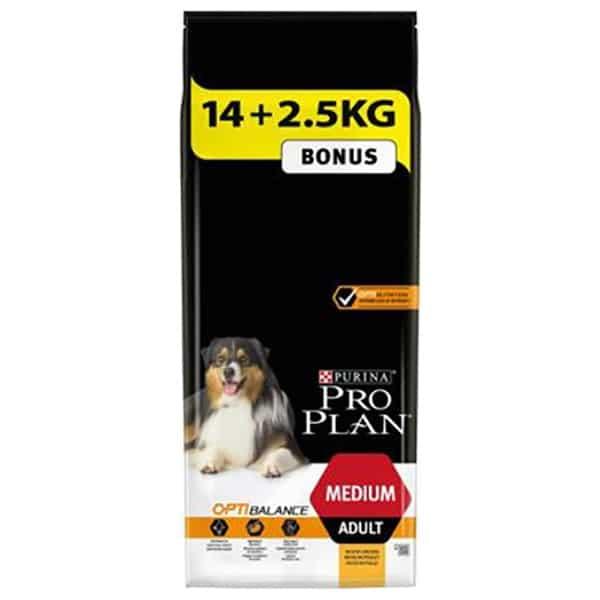 Pro Plan Dog Medium adult Chicken 14kg+2,5 kg